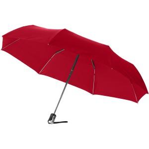 Alex 21.5-es összecsukható automata esernyő, piros